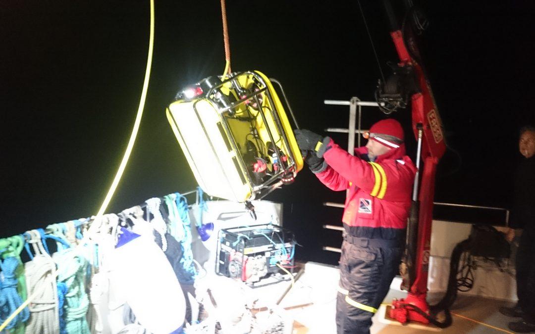 ROV besiktning av 7 km avloppsledning