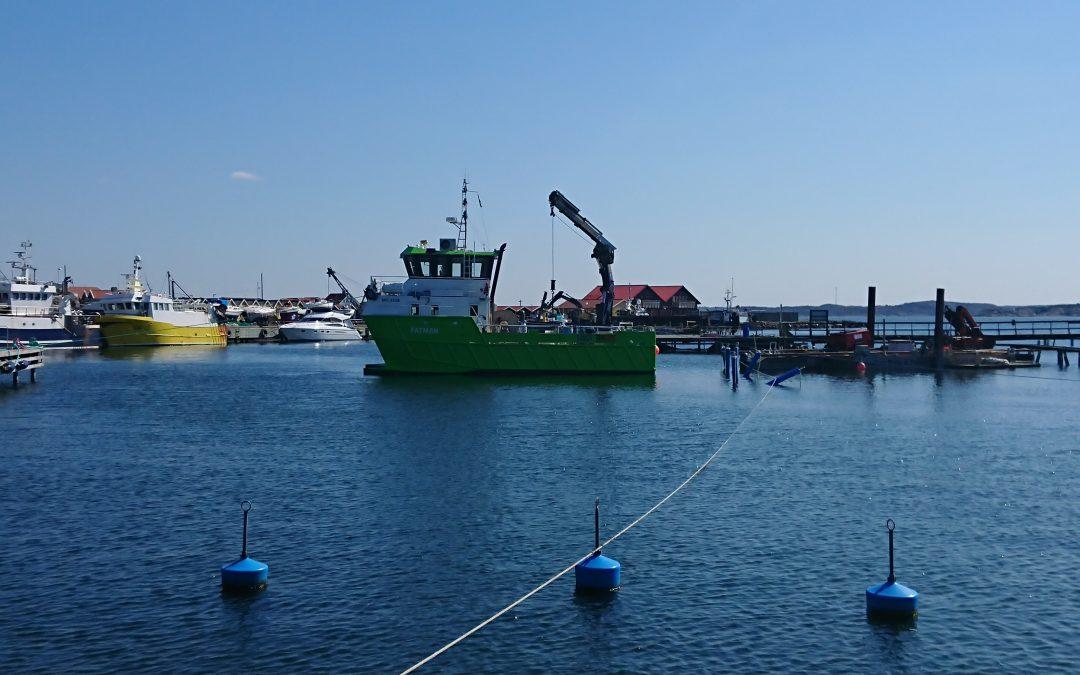 Nya bojar i Rörö hamn