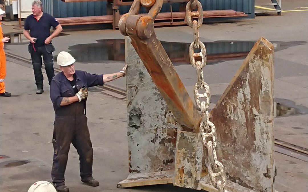 Bärgninga av 4 tons ankare med ROV
